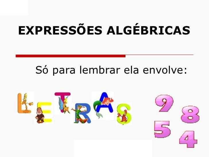 Expressões algébricas – Matematicando.net.br